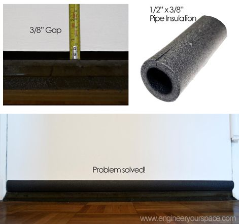 To Reduce Noise U0026 Drafts, Fill The Gap Under Your Door With Pre Cut
