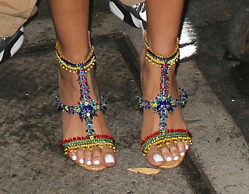 Rihanna Toes: Shoes, Feet Nails, White