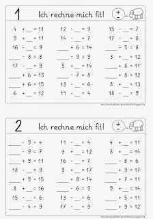 rechne dich fit plus minus 3 grundschule pinterest mathe schule und mathematikunterricht. Black Bedroom Furniture Sets. Home Design Ideas