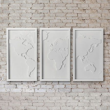 Mapster Wall Decor Set Of 3 | Classic white, Shadow box and Wall tiles