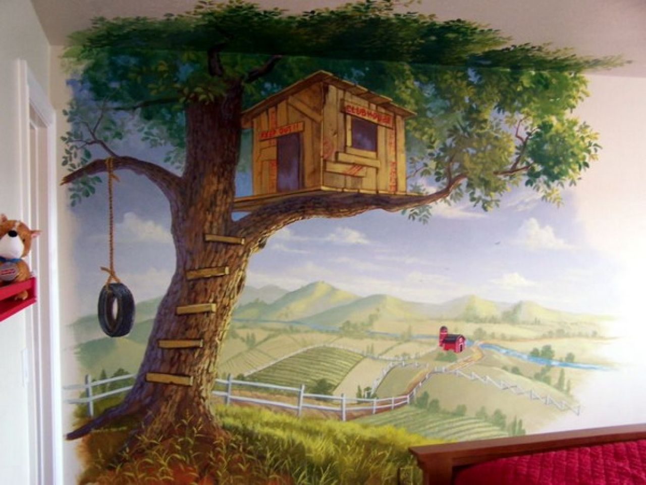 Bedroom Wall Art Trees Tree House Mural Tree House Wall Murals Decorating Ideas