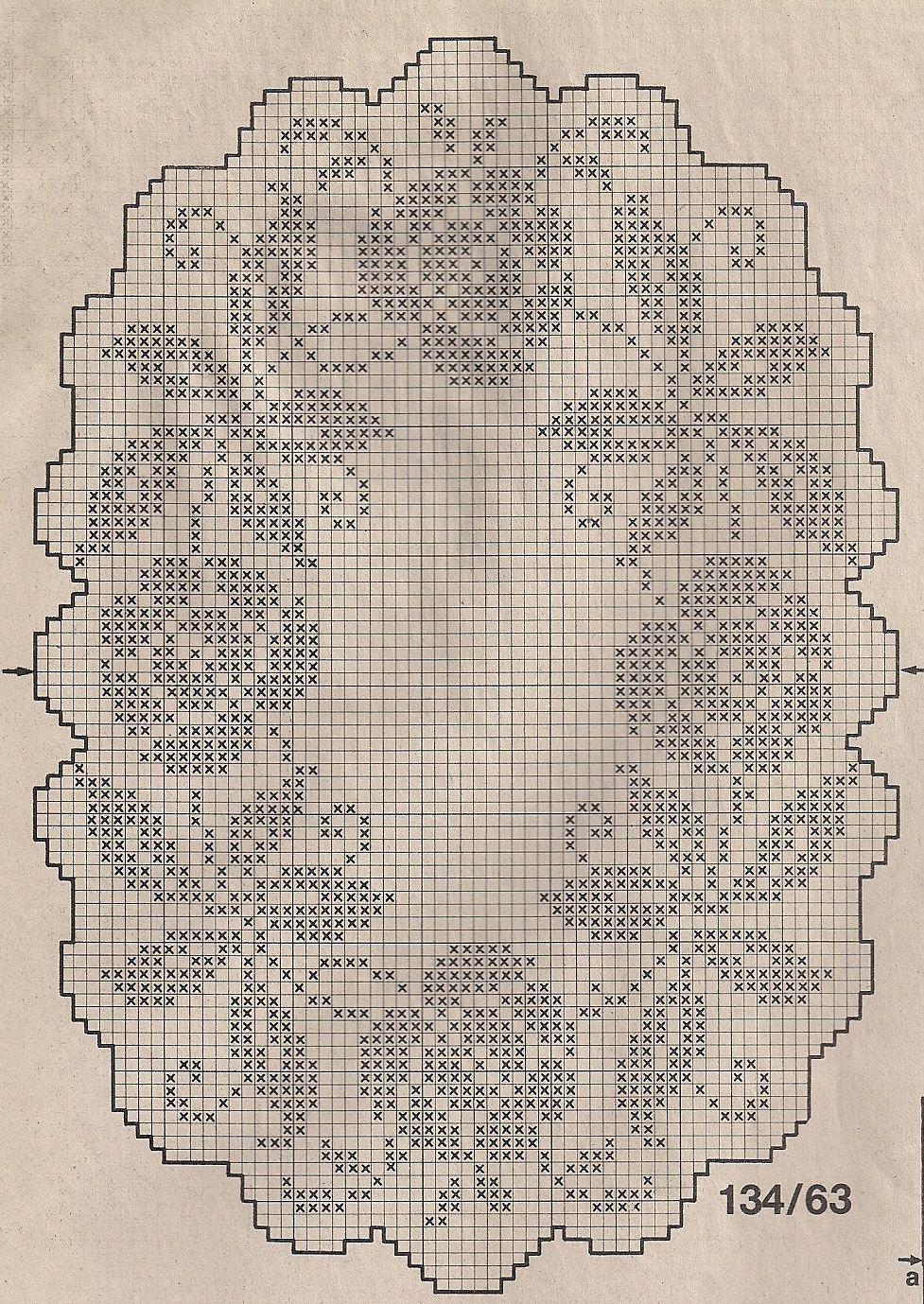 filet crochet placemat chart crochet pinterest tricot crochet and napperon crochet. Black Bedroom Furniture Sets. Home Design Ideas
