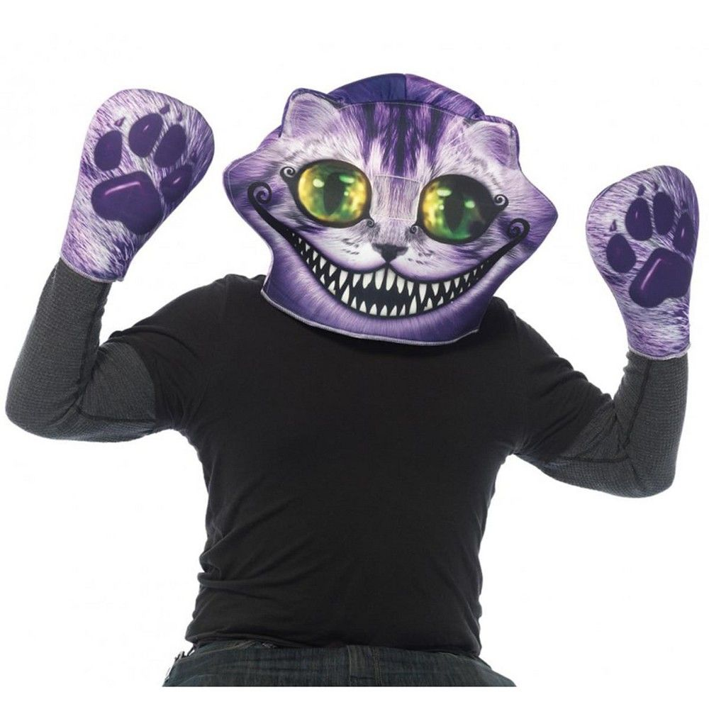 Leg Avenue Alice in Wonderland Cheshire Cat Foam Mask and Matching Paw Gloves