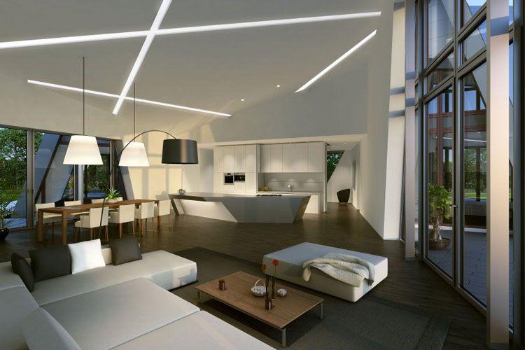 Casa Prefabbricata The Villa di Daniel Libeskind interni - villa wohnzimmer modern