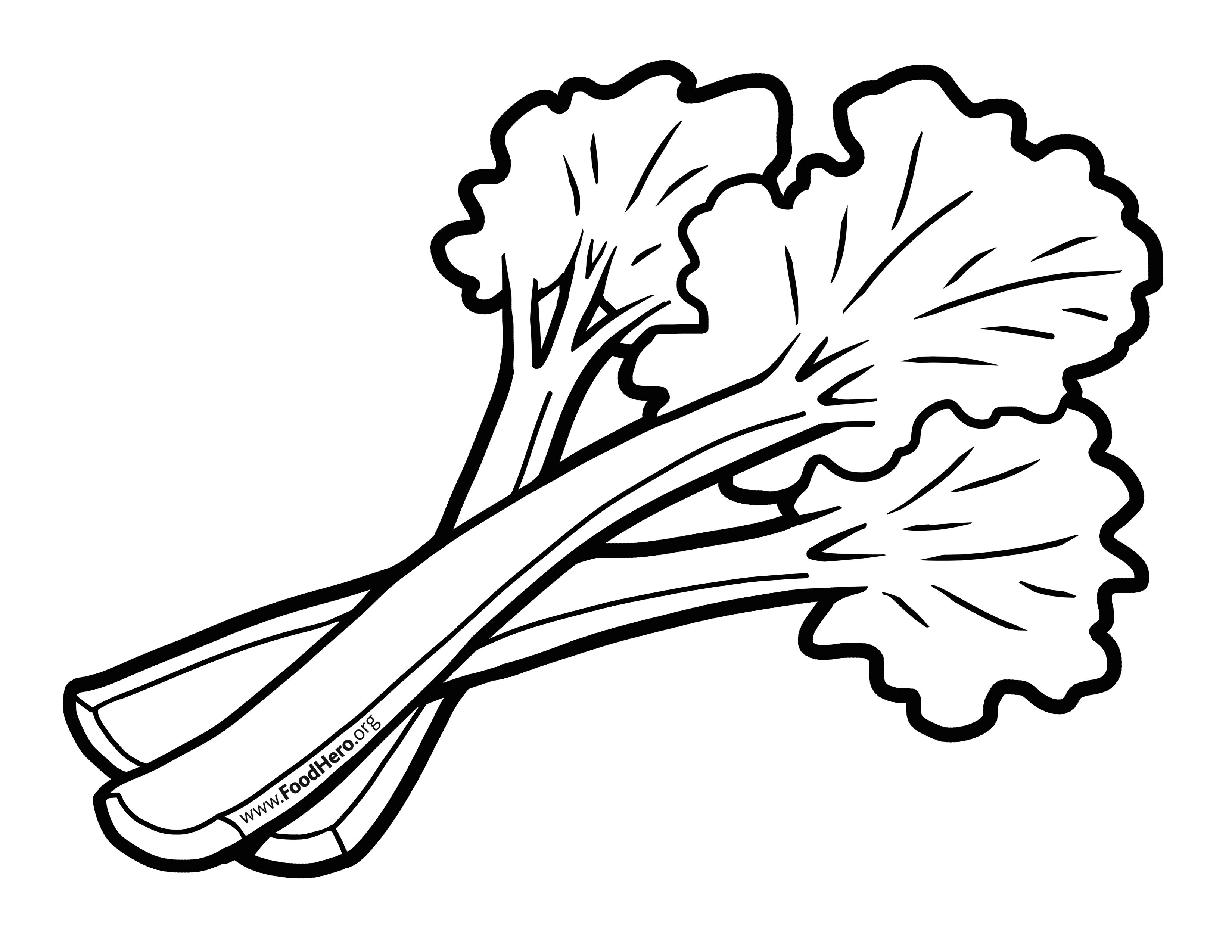 rhubarb coloring pages - photo#5