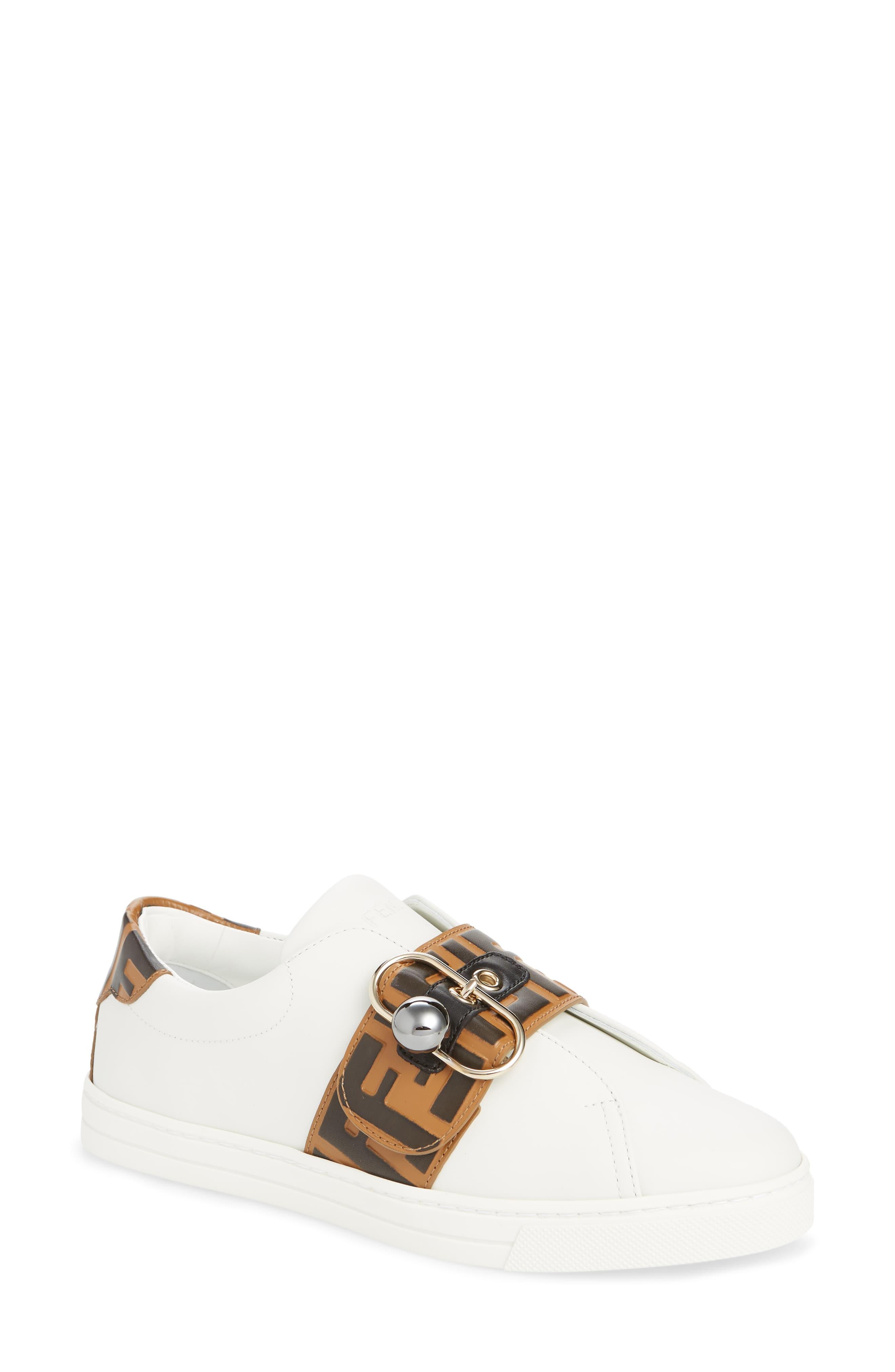 Fendi Pearland Logo Slip-On Sneaker