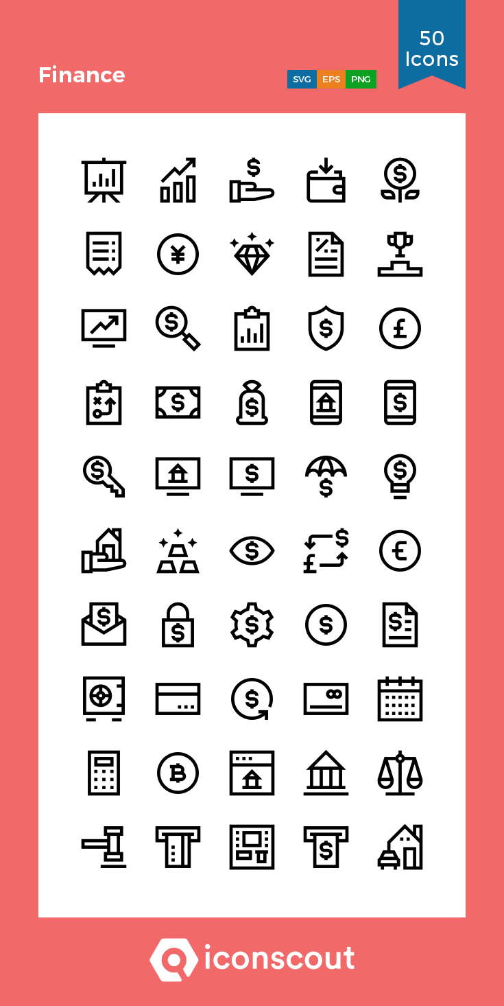 Download Finance Icon pack Available in SVG, PNG, EPS