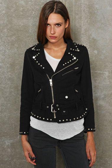 Bess Studded Moto Jacket