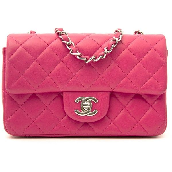 d50f064ae78dbf Chanel Candy Pink New Mini Classic Flap Bag ❤ liked on Polyvore featuring  bags, handbags, pink handbags, miniature purse, mini handbags, flap bag and  mini ...