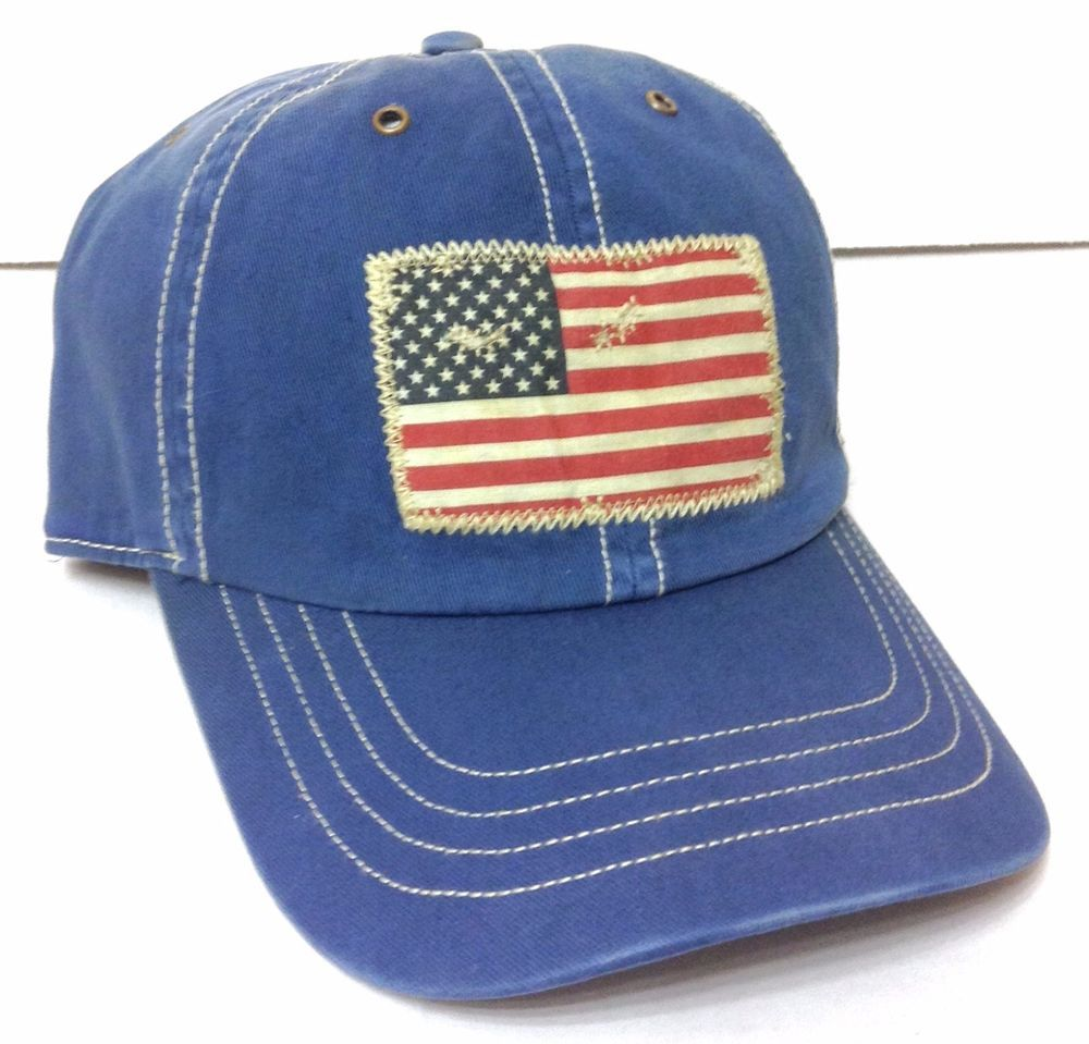 New POLO RALPH LAUREN AMERICAN FLAG HAT Relaxed/Cotton Faded-Vtg-Look Men