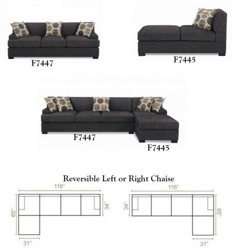 Sofa Slipcovers F F Montreal Ash Black Faux Linen Over Sized Sectional Sofa