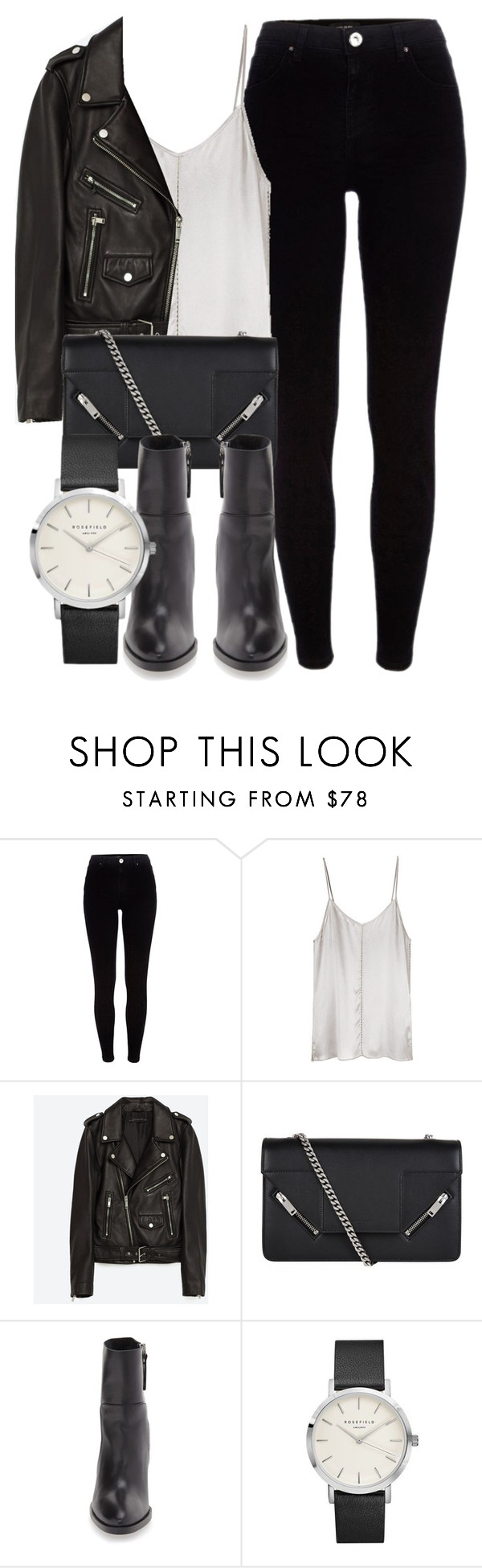 """""""Untitled #6430"""" by laurenmboot ❤ liked on Polyvore featuring River Island, Ian R.N., Jakke, Yves Saint Laurent and Topshop"""