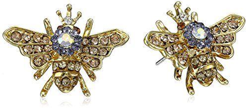 """Betsey Johnson """"Queen Bee"""" Stud Earrings Betsey Johnson http://www.amazon.com/dp/B00R29ZIOA/ref=cm_sw_r_pi_dp_7M4Avb0K47A7W"""