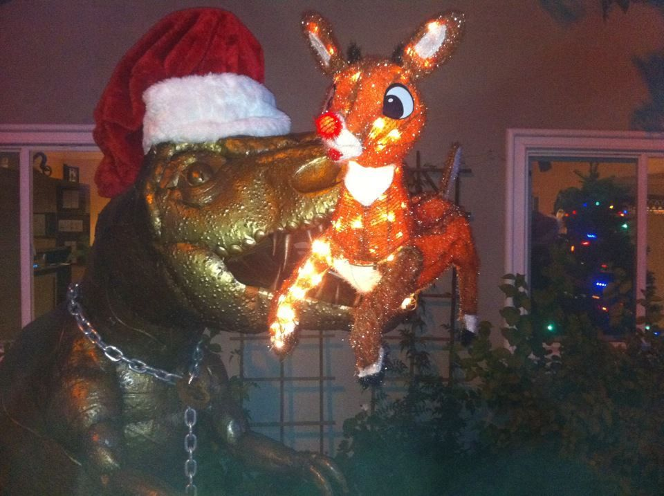 dug the t rex funny christmas decorationsdinosaur