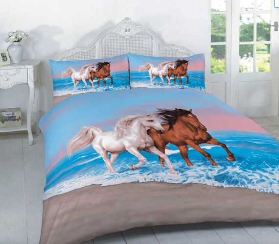 Horses Bedding Printed 3d Hd Quilt Duvet Bedding Cover Bedding Etsy Duvet Cover Sets Quilt Sets Bedding Horse Bedding