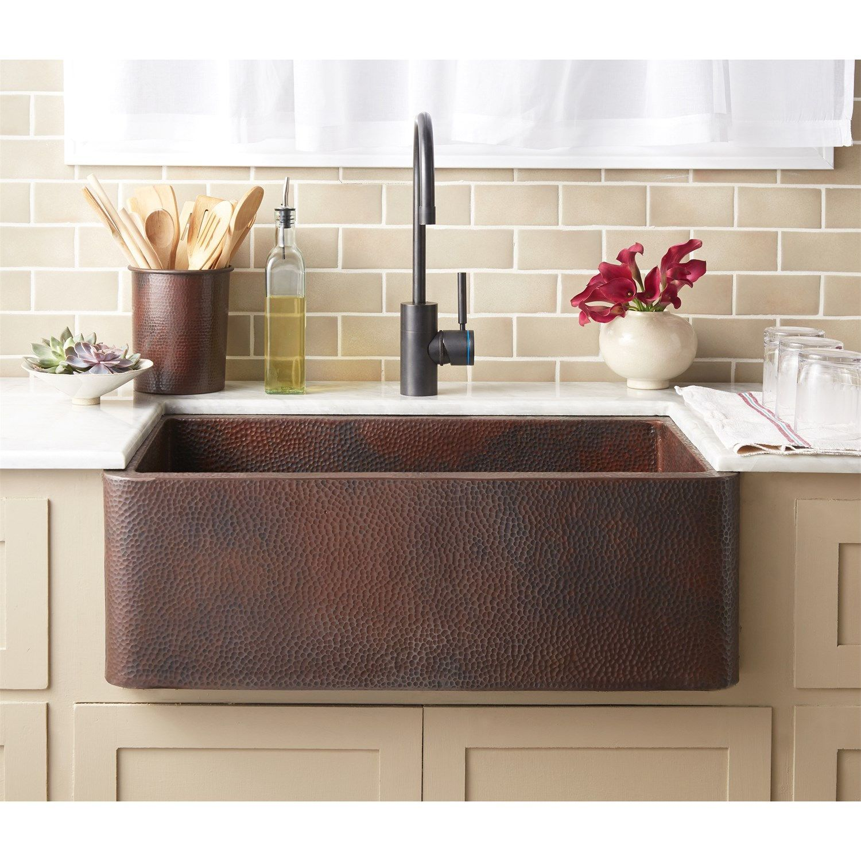 Native Trails Cps Farmhouse 30 Copper Kitchen Sink Kitchen Sinks Copper Farmhouse Sinks Copper Kitchen Apron Sink Kitchen