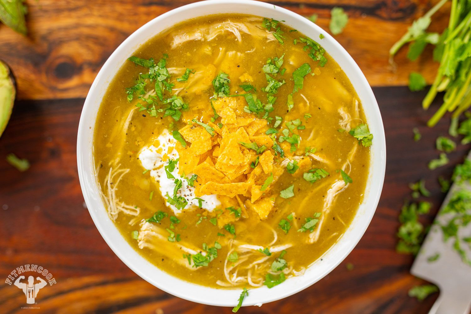 Photo of Try our green chile chicken tortilla soup rec