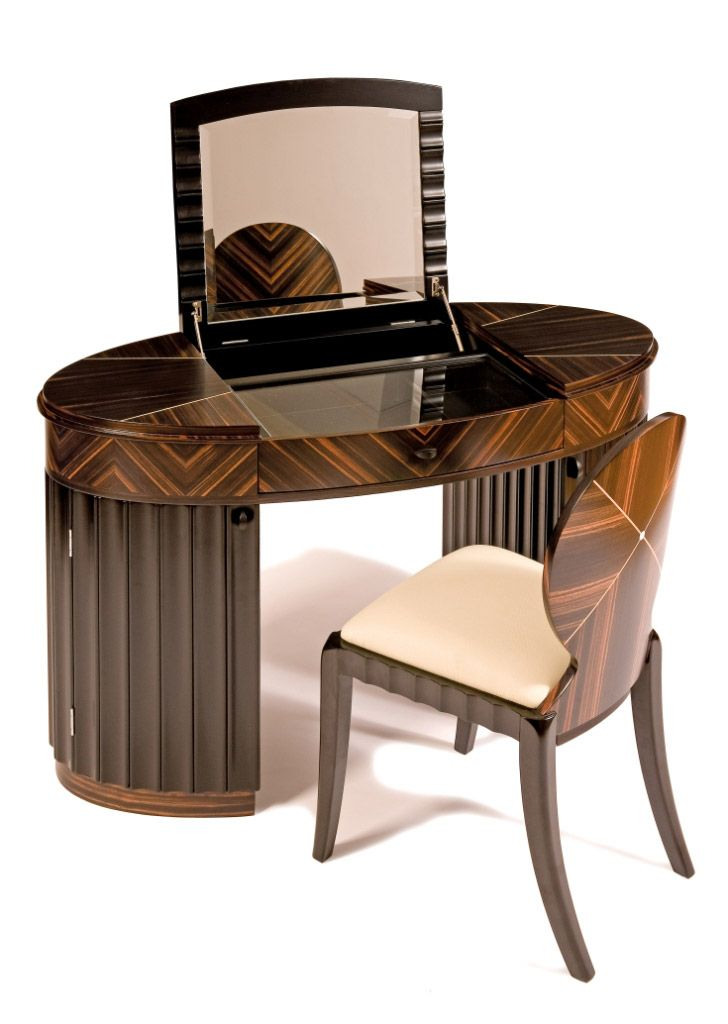 I Would Love To Be Able To Have This As My Dressing Table Contemporary Art  Deco Style Carrington Dressing Table By Shilou Furniture