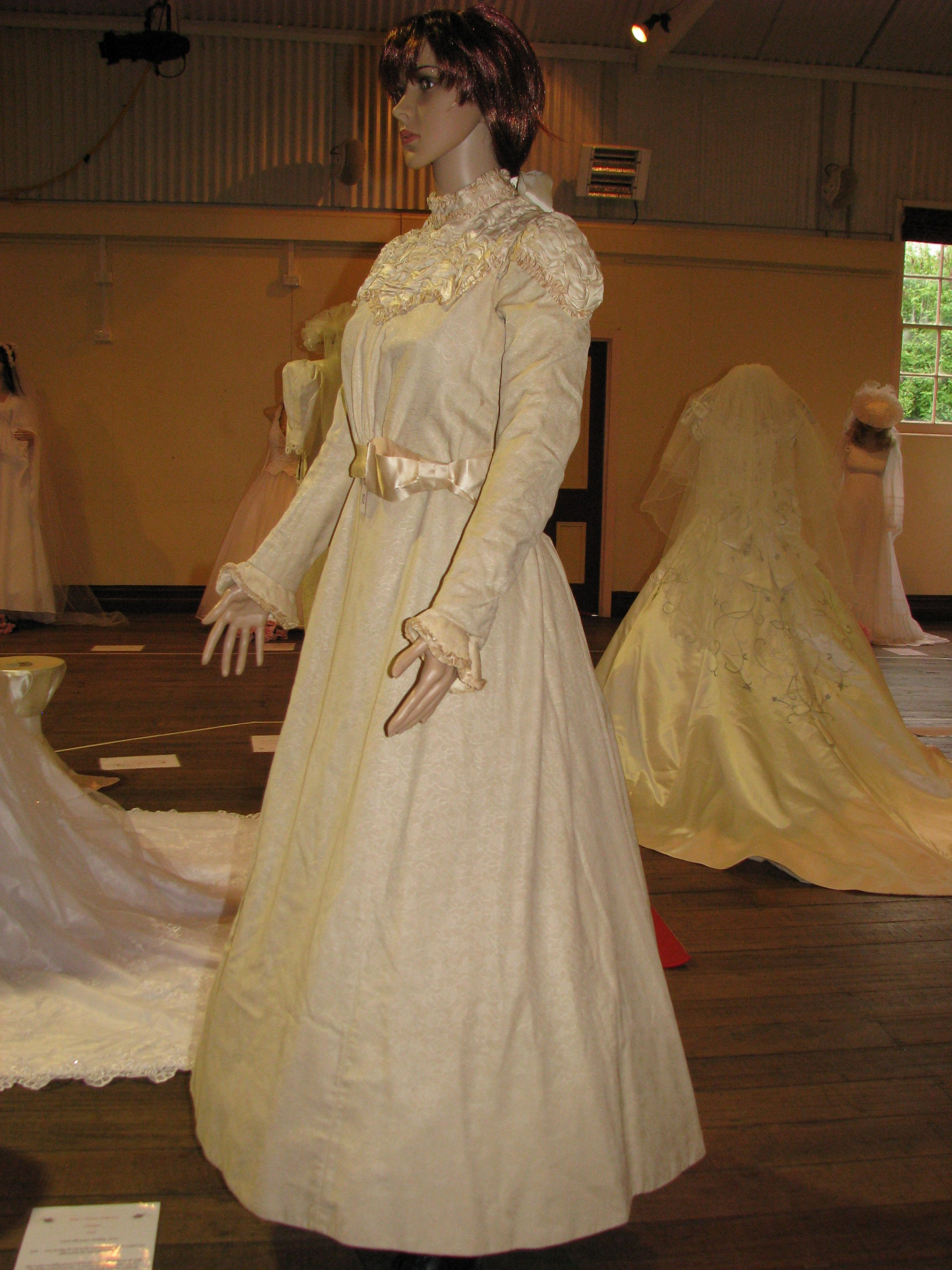 1898 An Original 2 Piece Wedding Outfit Made In The Usa Imported From