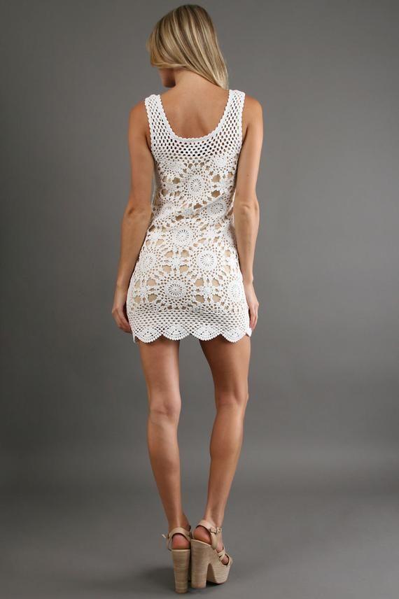 Crochet dress PATTERN, crochet beach dress pattern, designer crochet beach dress PATTERN, detailed tutorial in ENGLISH, sexy crochet dress. #crochetbeachdress