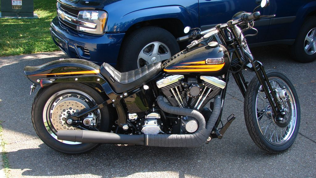 Softail Bad Boy with Thunderheader exhaust