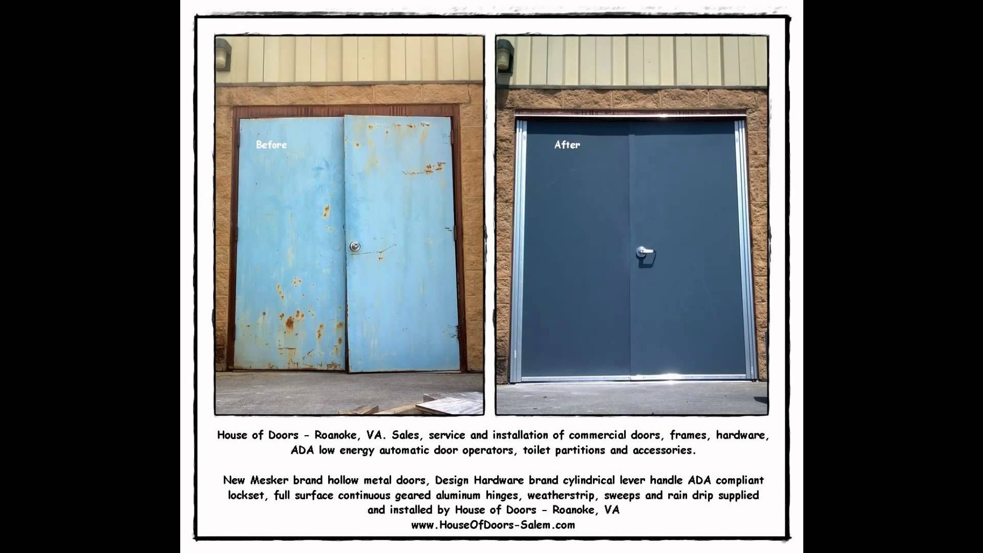 metal hollow throwback house by and installation doors of va repairs it sales roanoke thursdayrepair service repair frame thursday