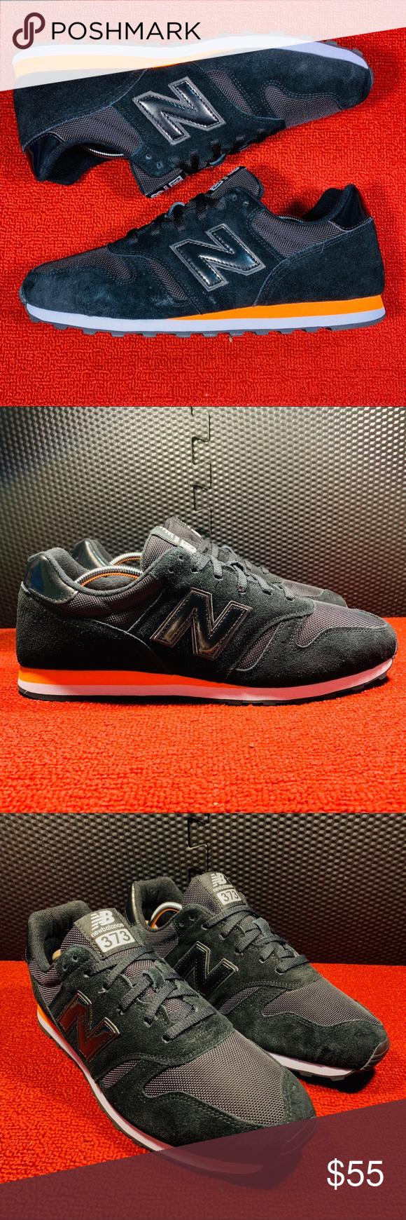 ❌SOLD❌Suede New Balance 373 Black & Orange | Orange black, Suede ...