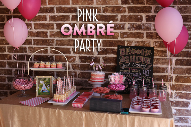 Sweet Pink Ombre Birthday Party Pictures Inspiration