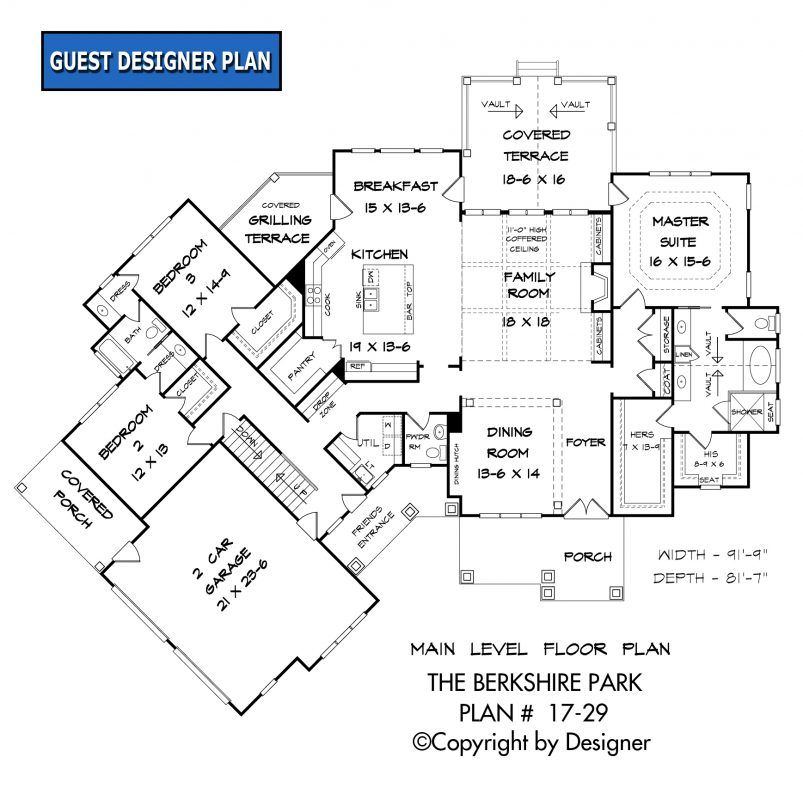 Berkshire Park House Plan 17 29 Kt Garrell Associates Inc How To Plan Floor Plans Craftsman House Plan