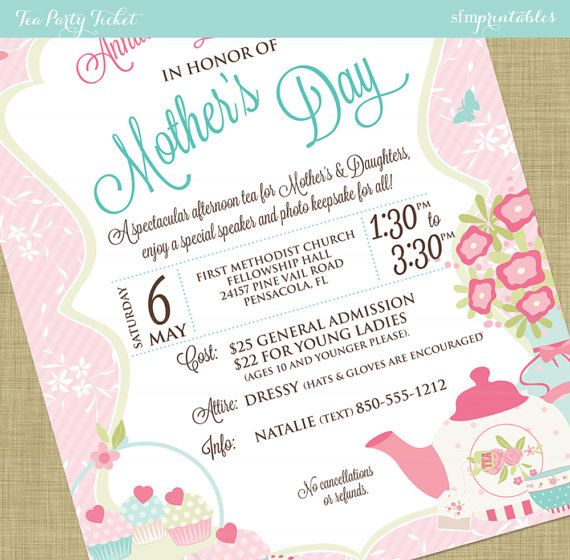 WomenS Tea Flyer Invitation Postcard Poster Template Church
