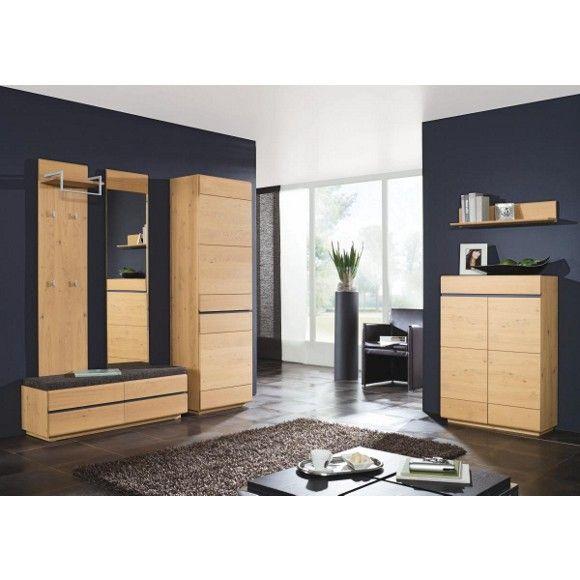 garderobe vorzimmer garderoben linea natura eiche wohnung pinterest