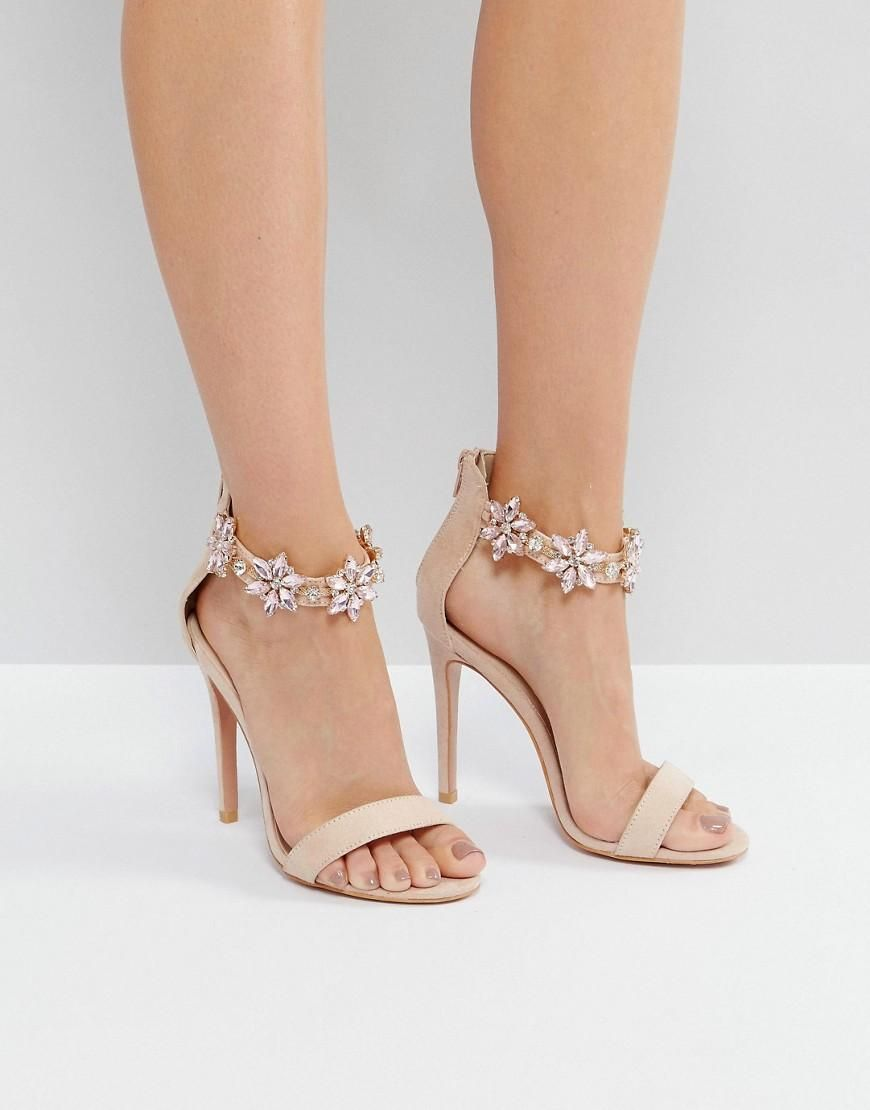 bdfa01232f3  ASOS -  True Decadence True Decadence Embellished Ankle Strap Heeled  Sandals - Pink - AdoreWe.com