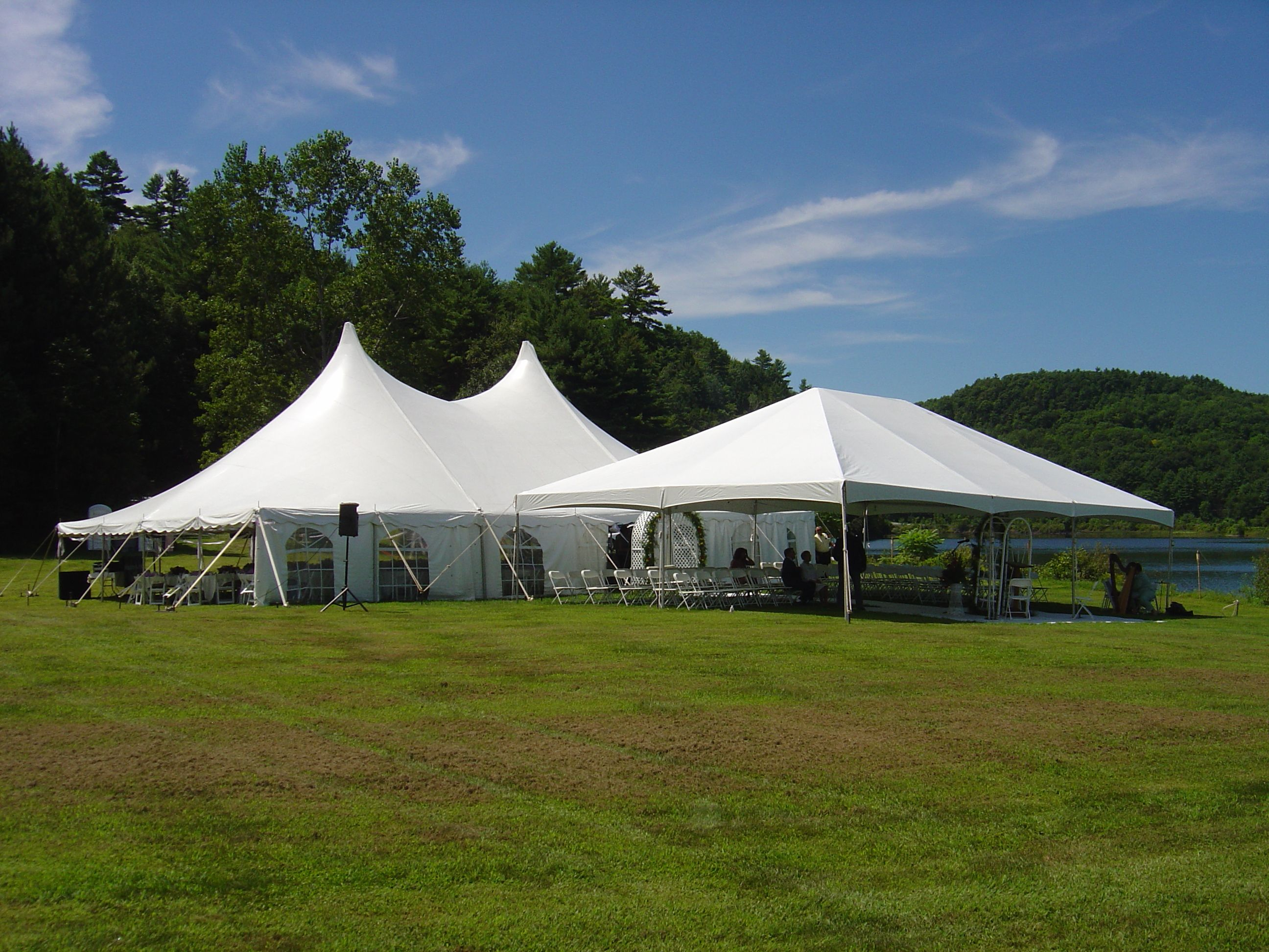 30 X 60 White Wedding Tent With 20 X 40 Frame Tent With