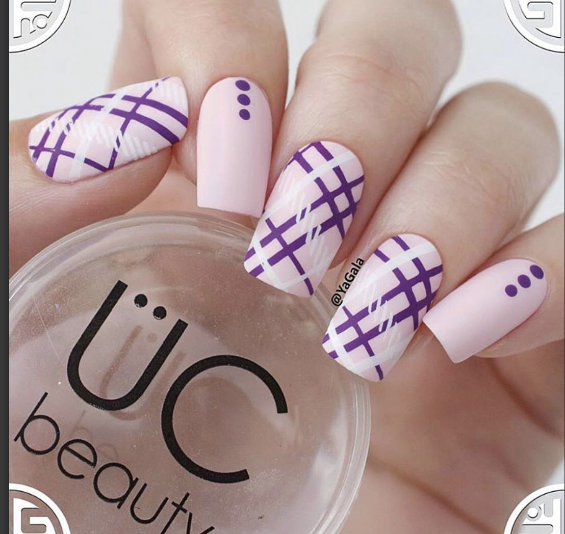 Uc - Pretty In Plaid UC - PRETTY IN PLAID Nail Stamping nail stamping layers