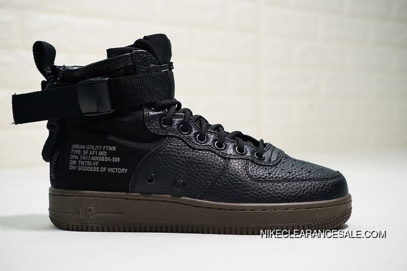 Nike SF Air Force 1 Mid 917753 002 Black Black Dark Hazel