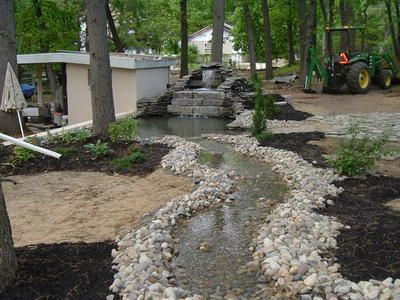 how to build a stream and pond