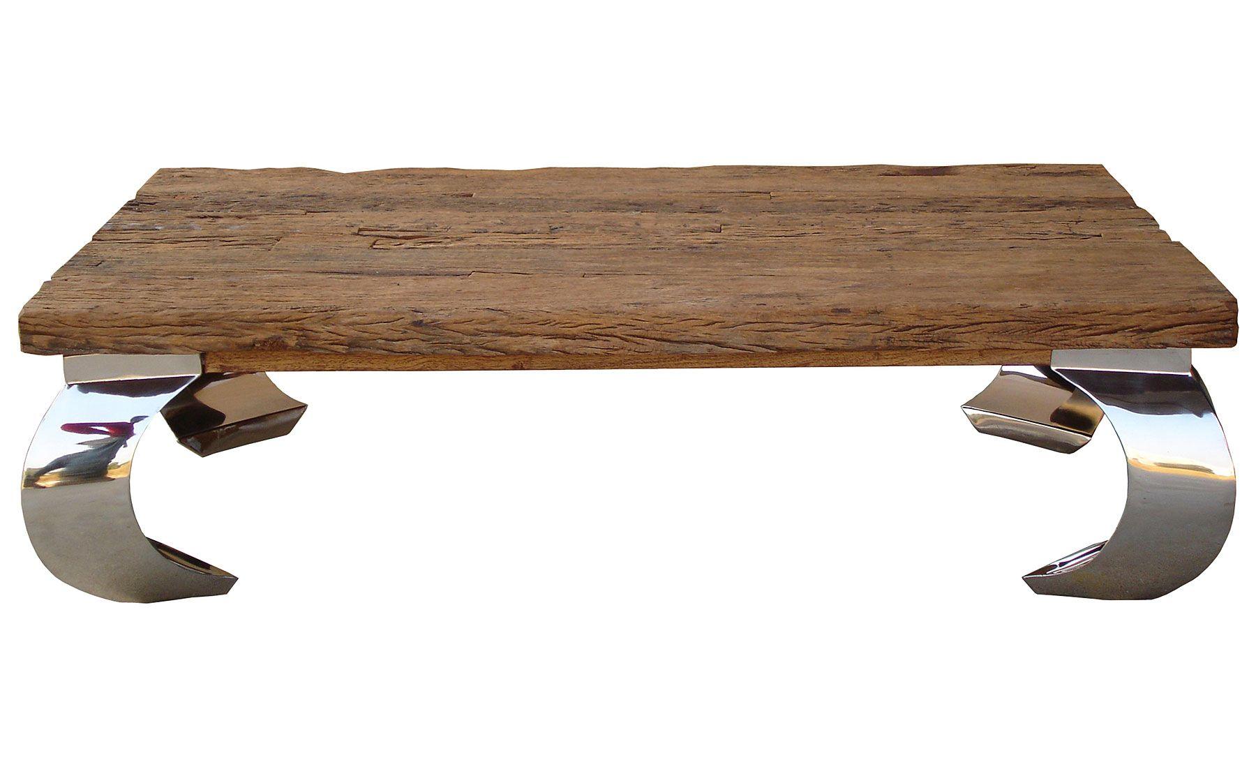 Tavolino Opium ~ Mesa de centro opium recicled material madera tropical mesa de