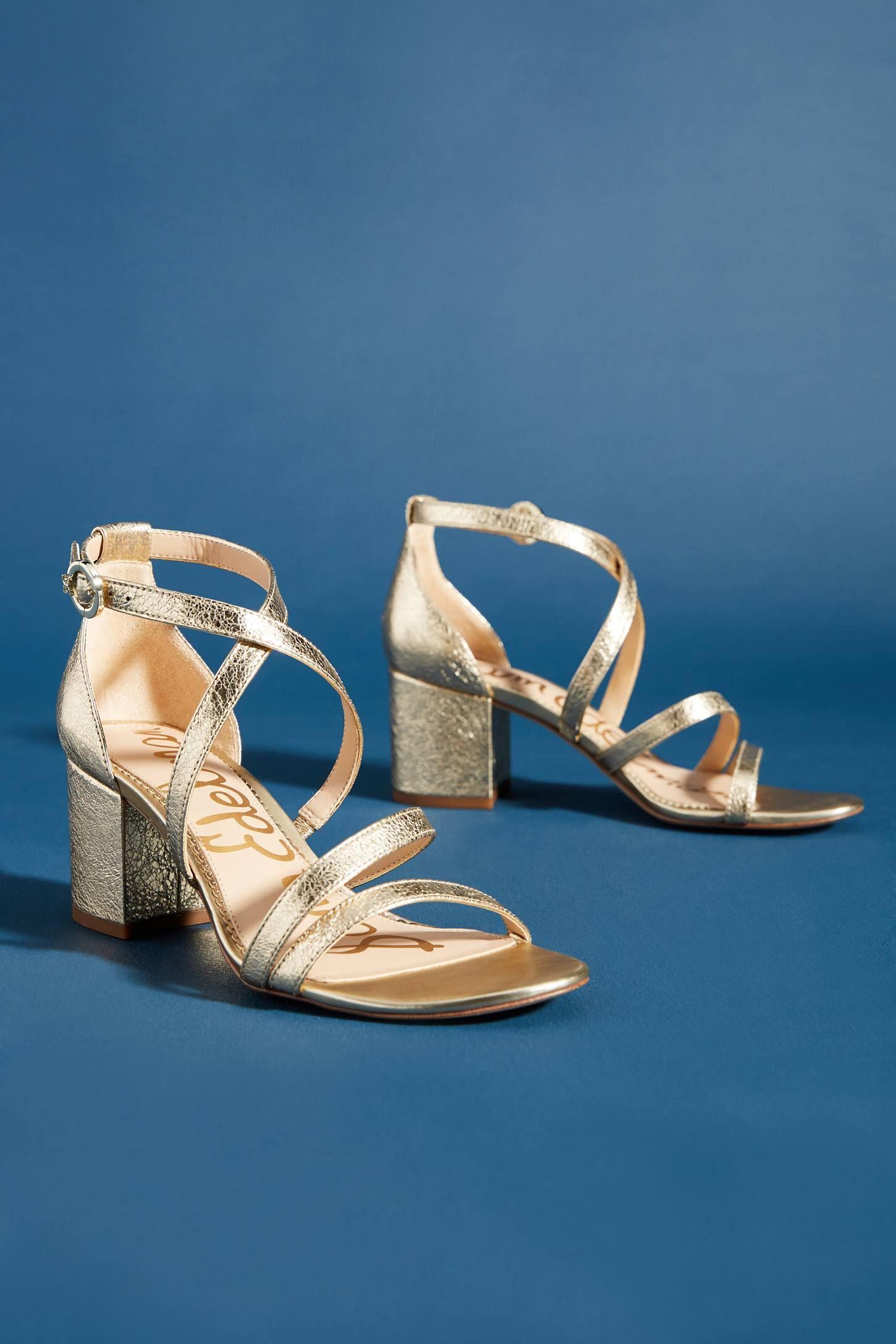 Sam Edelman Stacie Strappy Heels   Gold