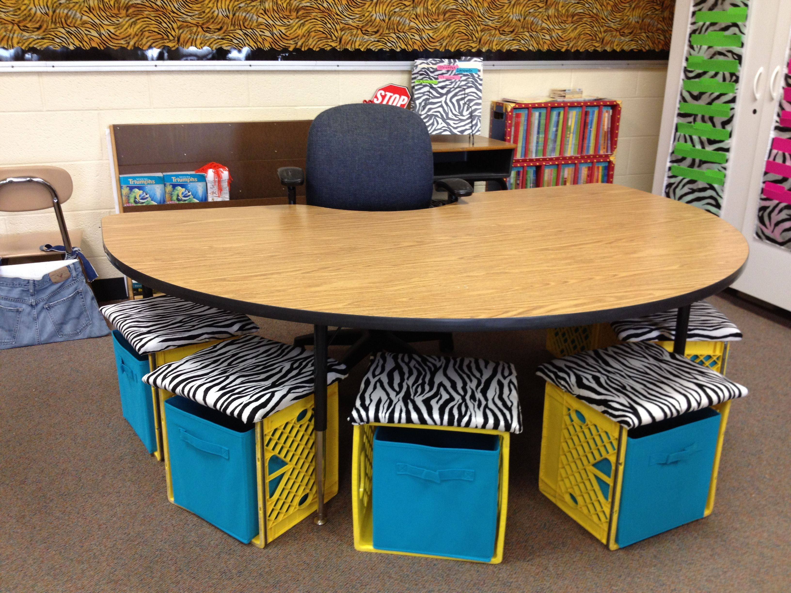 Classroom Organizer Chair Covers Wholesale Chairs And Tables For My Small Group Table Love The Storage Boxes Inside