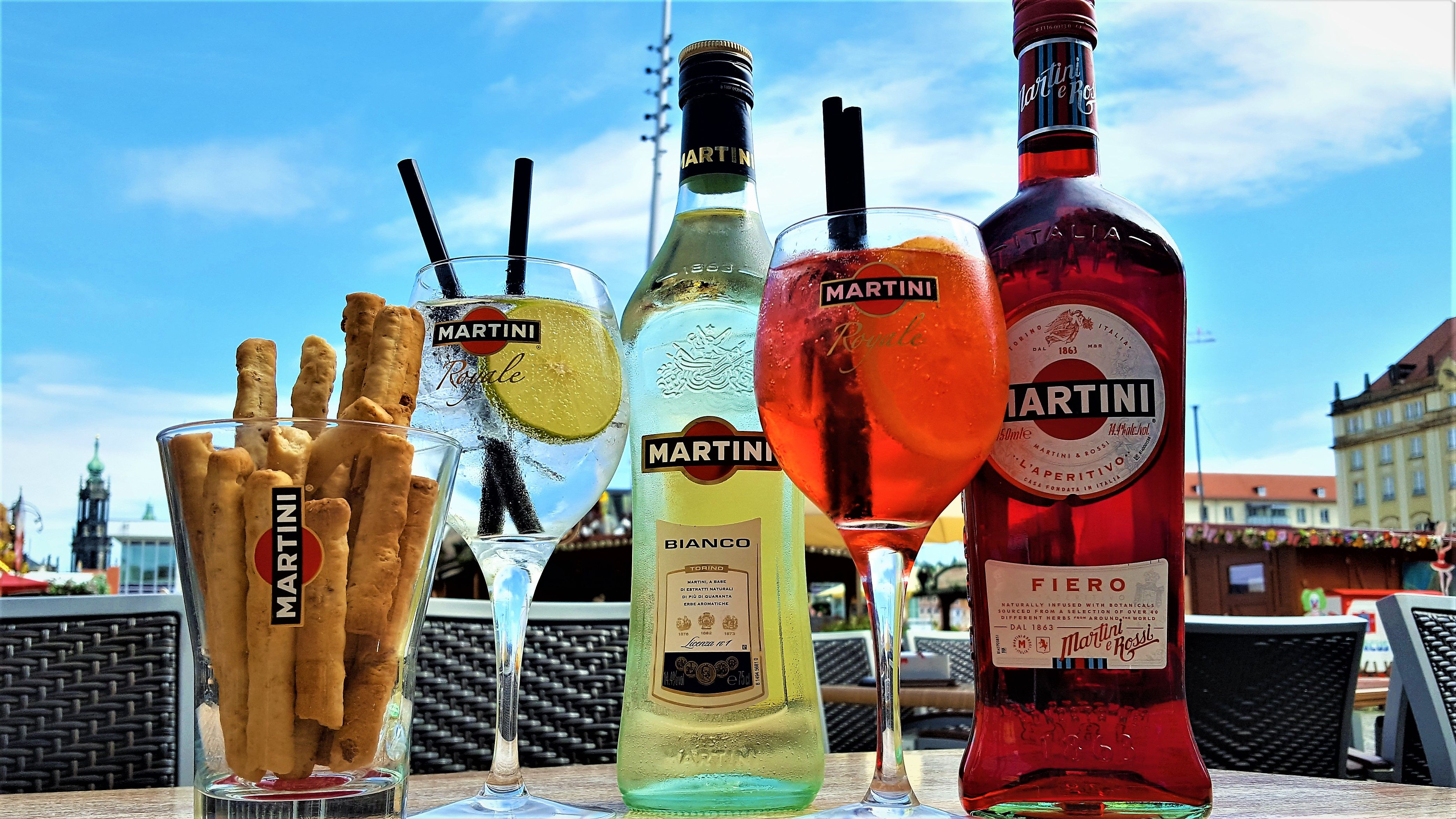 Martini Fiero mit Tonic