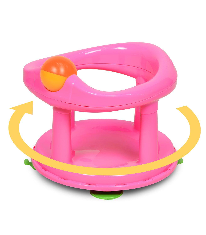 Safety 1st Swivel Bath Seat Pink Kiddicare Baby bath