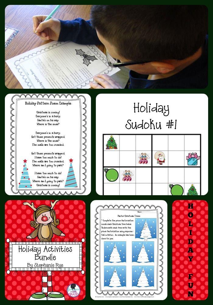 Christmas/Holiday Activities Bundle