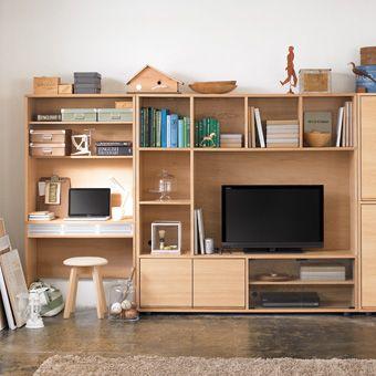 収納/ボックスアンドニードル/IKEA/スタッキングシェルフ/無印良品…などのインテリア実例 -2016-09-01 10:08:36 | Muji,  Tv storage and Shelves