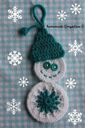 Snowman Decoration Free Crochet Pattern By Alessandra
