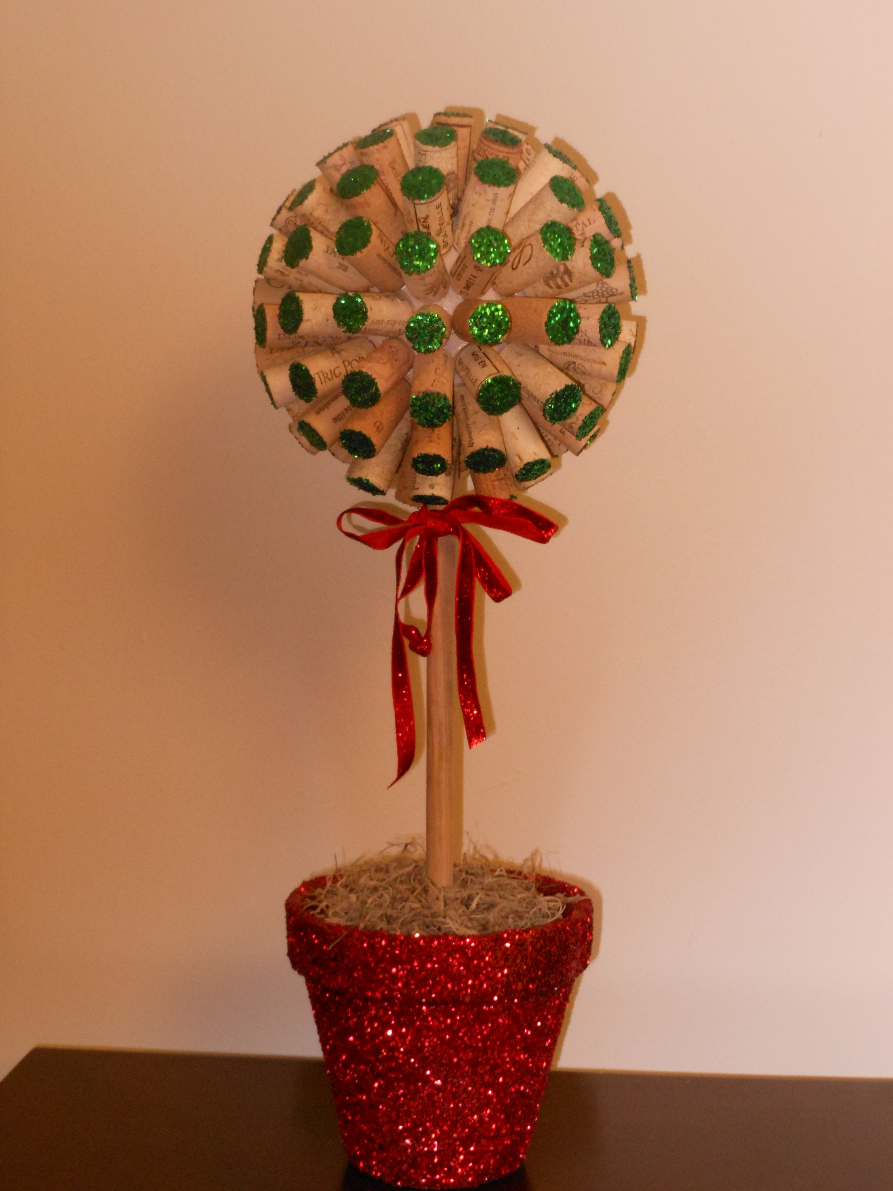 Wine Cork Topiary