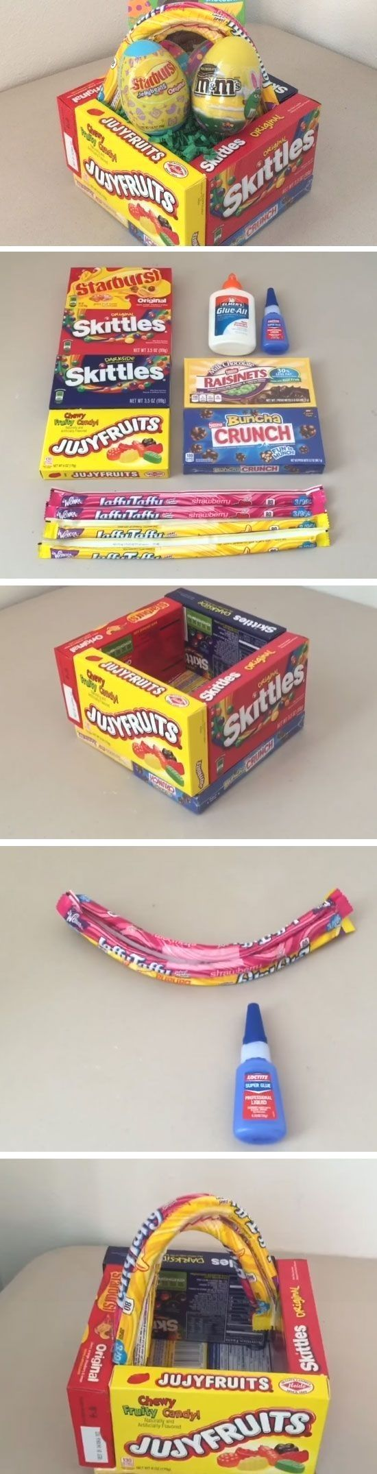 Candy Box  Easy DIY Easter Basket Ideas for Kids  DIY Gift Baskets for Friends Cute Ideas