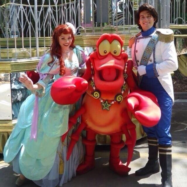 Ariel Sebastian u0026 Eric before the Parade!  sc 1 st  Pinterest & Ariel Sebastian u0026 Eric before the Parade! | The Little Mermaid ...