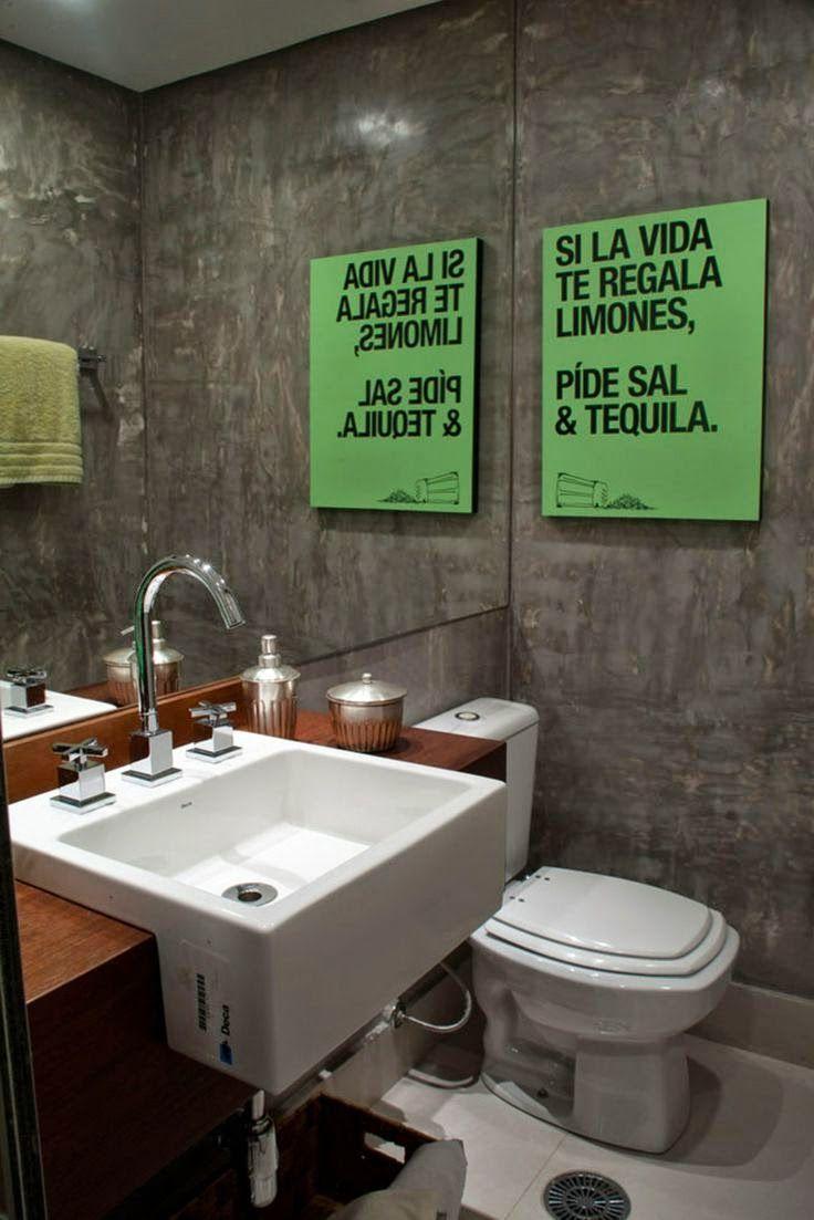 Inspiração do dia: 47 lavabos elegantes   Banheiros e lavabos ...