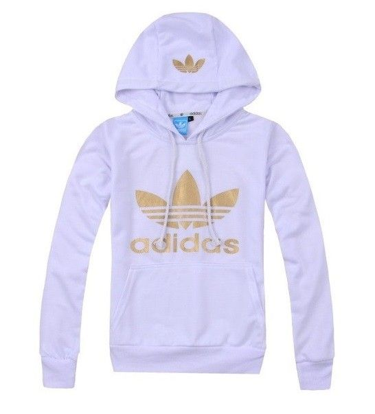 adidas hoodie white gold via Luxury store. Click on the image to see more! 7d705e3cb5