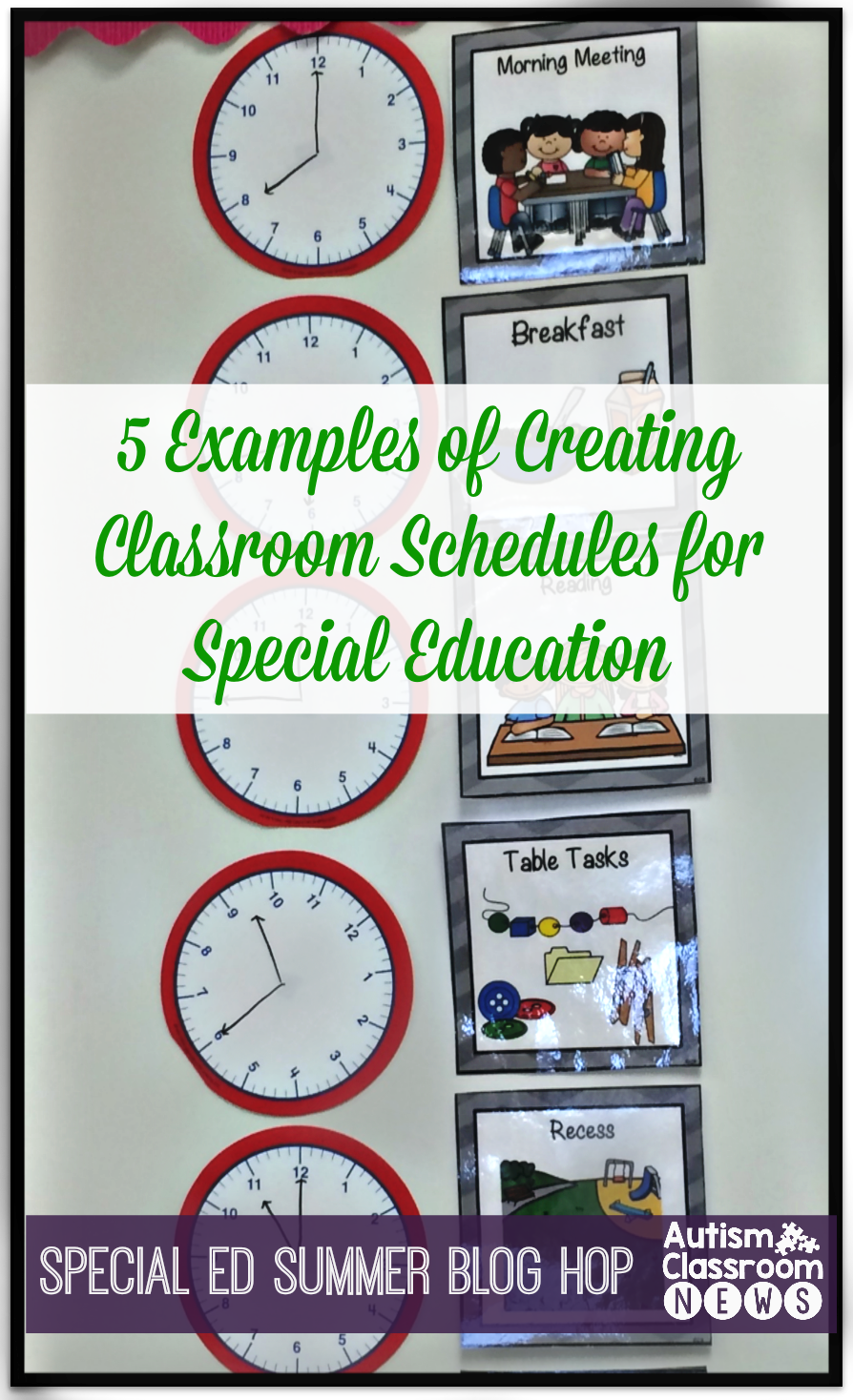 Special Education Summer Blog Hop Setting up Schedules ...
